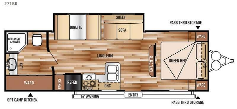 Floorplan - 2016 Forest River RV Salem Cruise Lite 271RB