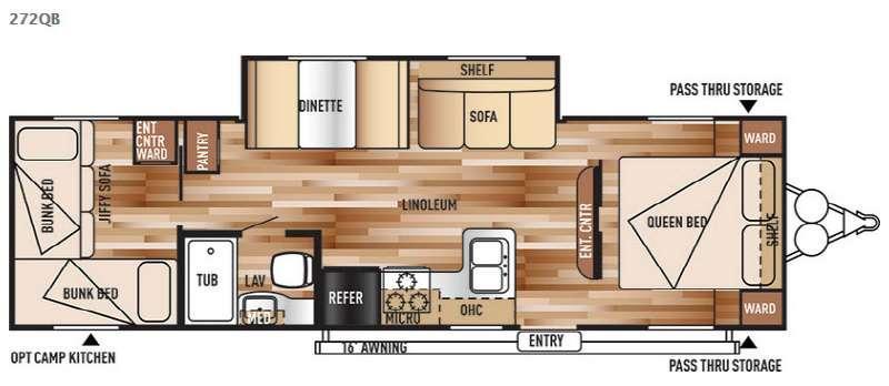 Floorplan - 2016 Forest River RV Salem Cruise Lite 272QB