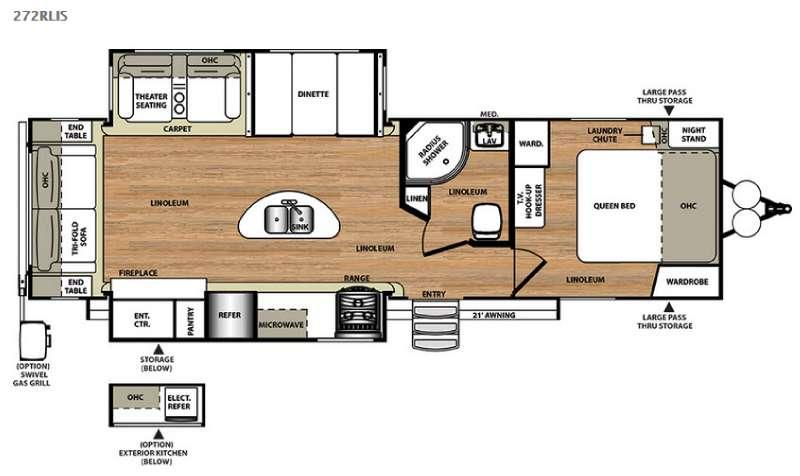Floorplan - 2016 Forest River RV Salem Hemisphere Lite 272RLIS