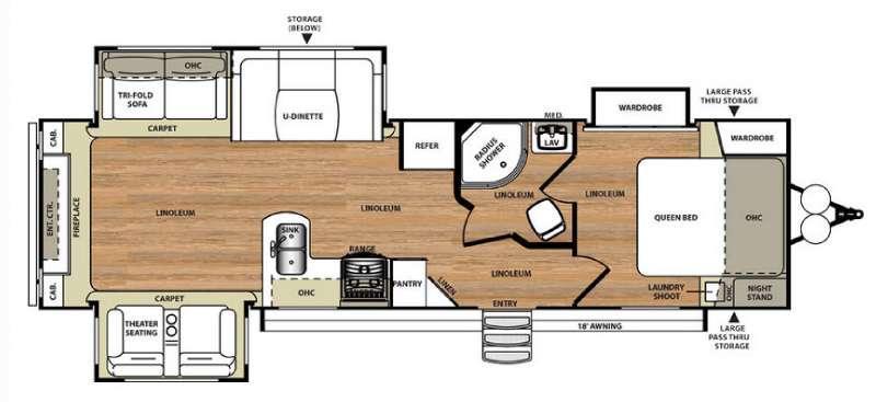 Floorplan - 2016 Forest River RV Salem Hemisphere Lite 299RE