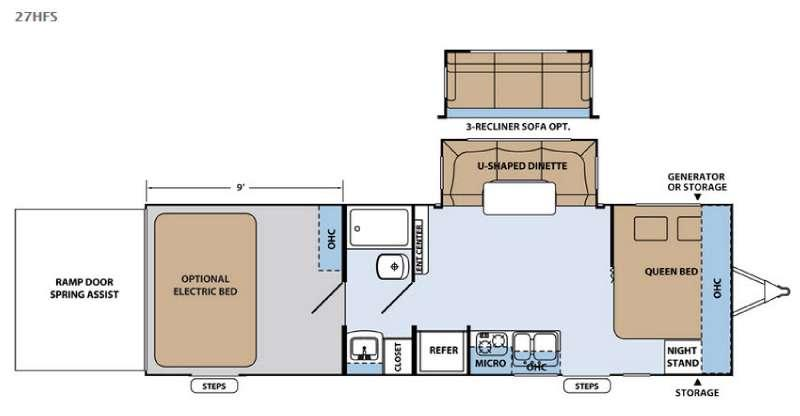 Floorplan - 2016 Forest River RV XLR Hyper Lite 27HFS