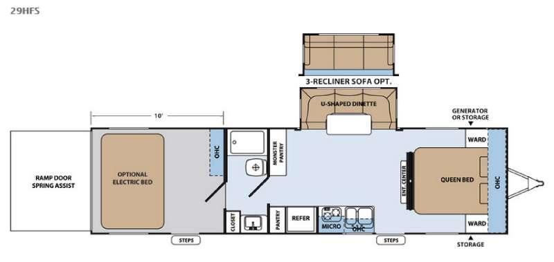 Floorplan - 2016 Forest River RV XLR Hyper Lite 29HFS