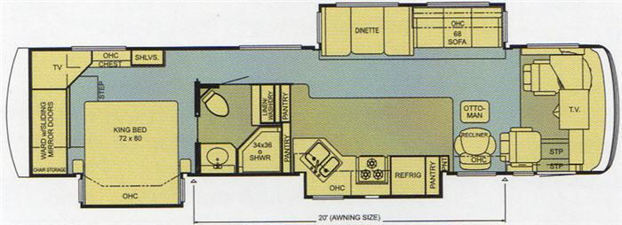 Floorplan - 2006 Newmar Ventana 3937