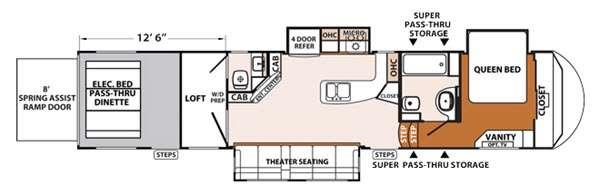 Floorplan - 2016 Forest River RV XLR Thunderbolt 375AMP
