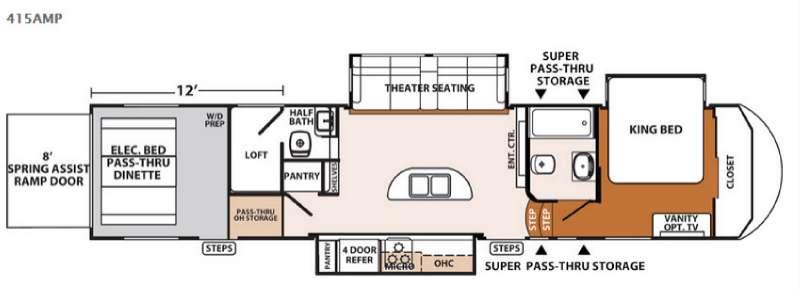 Floorplan - 2016 Forest River RV XLR Thunderbolt 415AMP