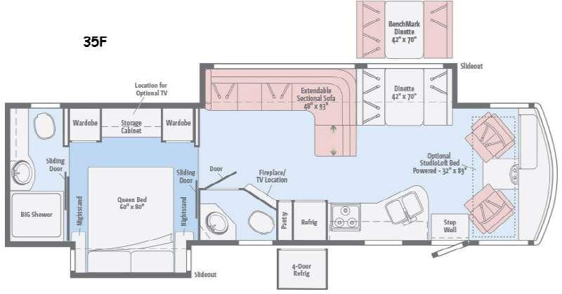 Floorplan - 2016 Winnebago Vista LX 35F