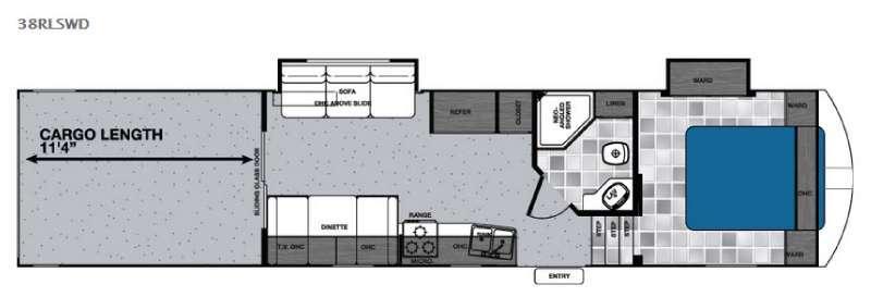 Work and Play Catalyst 38RLSWD Floorplan Image