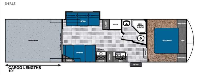 Work and Play 34RLS Floorplan Image