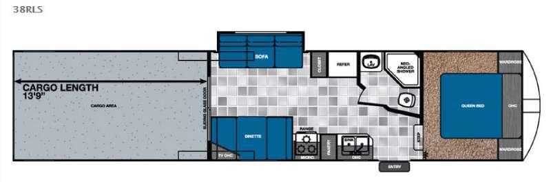 Work and Play 38RLS Floorplan Image