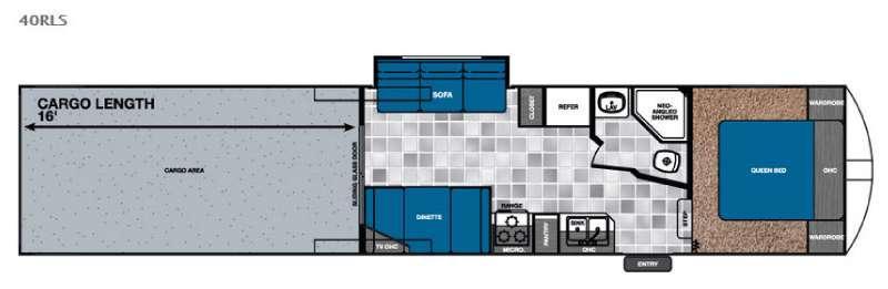 Work and Play 40RLS Floorplan Image