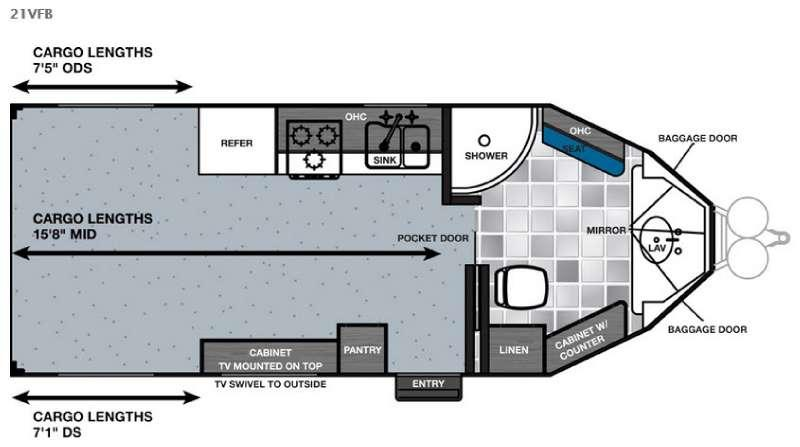 Floorplan - 2016 Forest River RV Work and Play 21VFB