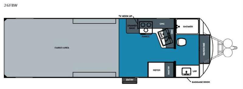 Work and Play 26FBW Floorplan Image