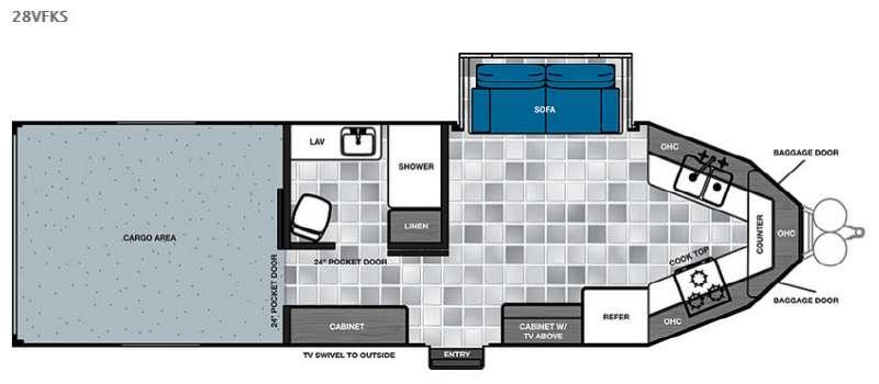 Work and Play 28VFKS Floorplan Image