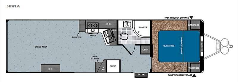 Work and Play 30WLA Floorplan Image