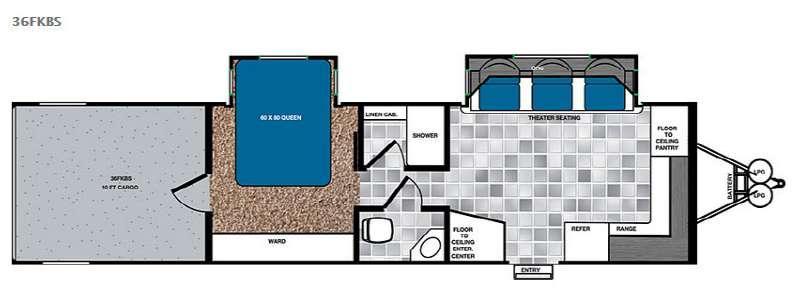 Work and Play 36FKBS Floorplan Image