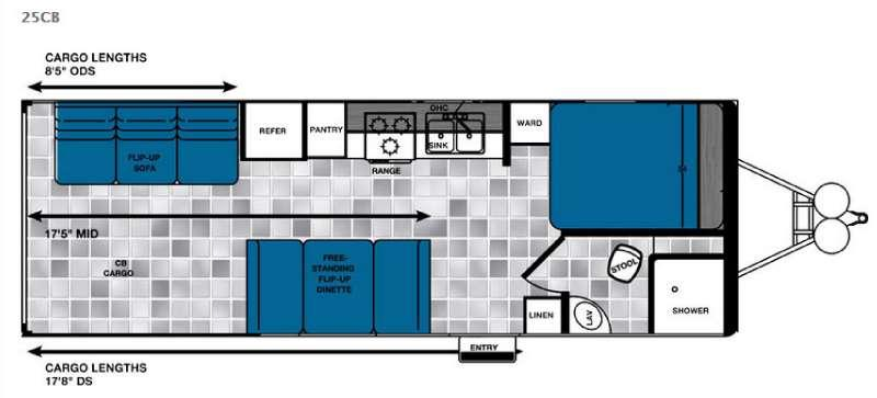 Floorplan - 2016 Forest River RV Work and Play Ultra Lite 25CB LE