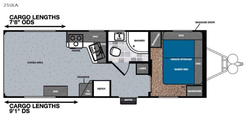 Floorplan - 2016 Forest River RV Work and Play Ultra Lite 25ULA