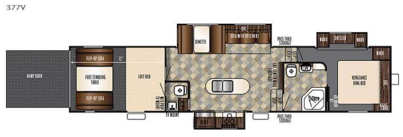 Floorplan - 2016 Forest River RV Vengeance 377V