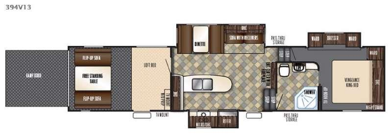 Floorplan - 2016 Forest River RV Vengeance 394V13