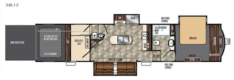 Floorplan - 2016 Forest River RV Vengeance Touring Edition 38L12