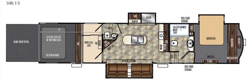 Floorplan - 2016 Forest River RV Vengeance Touring Edition 38L13