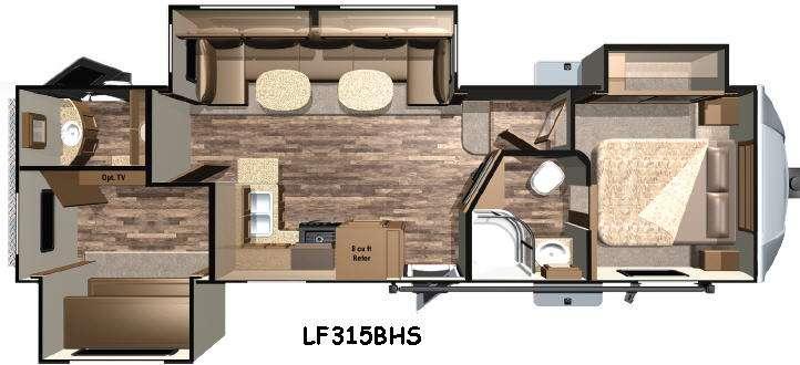Floorplan - 2016 Open Range RV Light LF315BHS