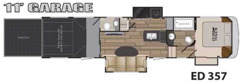Floorplan - 2016 Heartland Edge EG 357