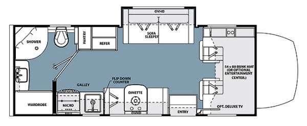 Floorplan - 2016 Forest River RV Solera 24B