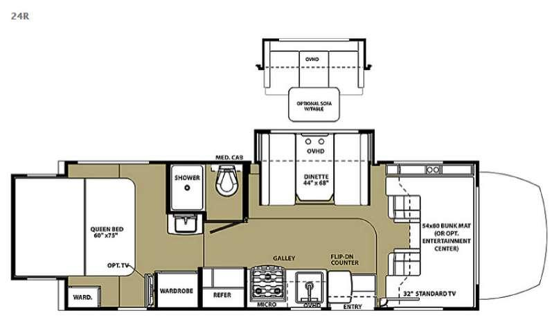 Floorplan - 2016 Forest River RV Solera 24R