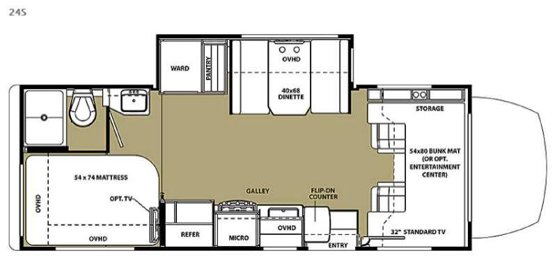 Floorplan - 2016 Forest River RV Solera 24S