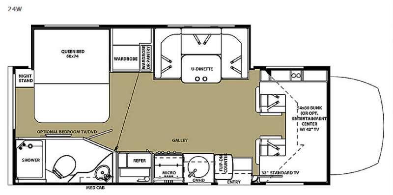 Floorplan - 2016 Forest River RV Solera 24W