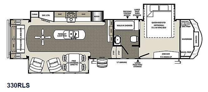 Sierra 330RLS Floorplan Image