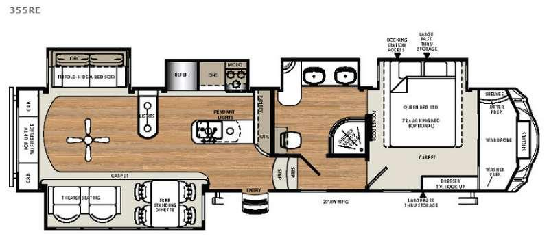 Floorplan - 2016 Forest River RV Sierra 355RE