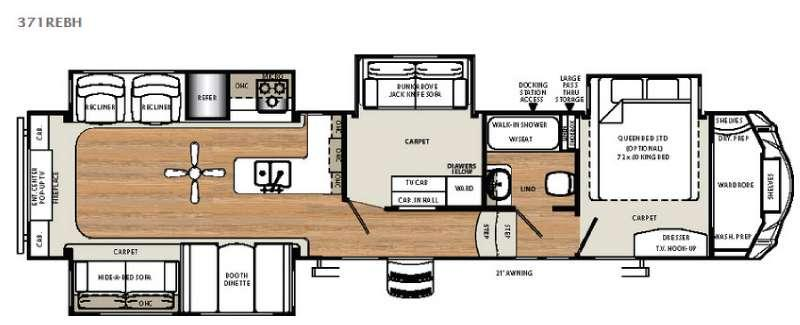 Floorplan - 2016 Forest River RV Sierra 371REBH