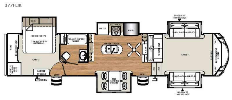 Floorplan - 2016 Forest River RV Sierra 377FLIK