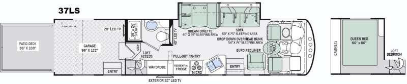 Outlaw 37LS Floorplan Image