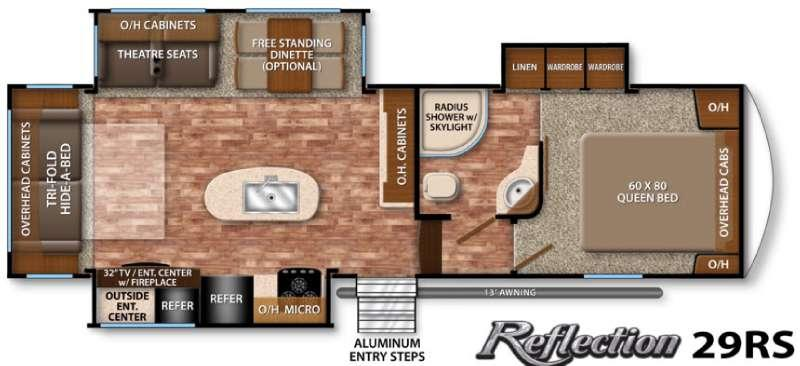 Floorplan - 2016 Grand Design Reflection 29RS