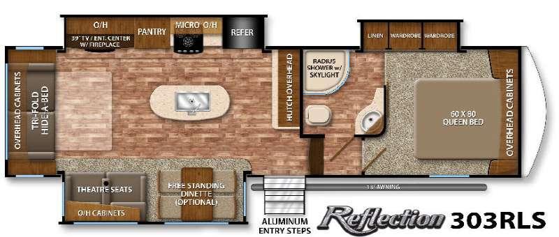 Floorplan - 2016 Grand Design Reflection 303RLS