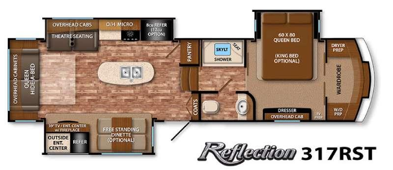 Floorplan - 2016 Grand Design Reflection 317RST