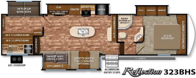Floorplan - 2016 Grand Design Reflection 323BHS