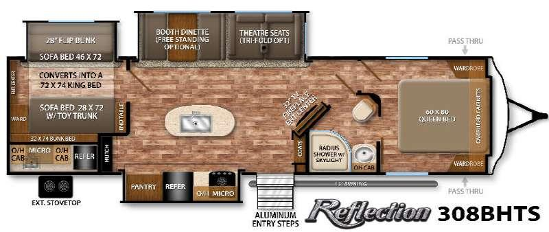 Floorplan - 2016 Grand Design Reflection 308BHTS