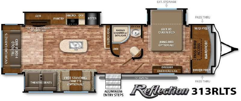 Floorplan - 2016 Grand Design Reflection 313RLTS