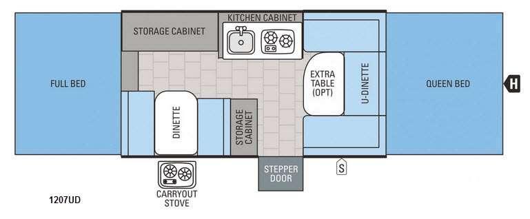 Jay Series 1207UD Floorplan Image