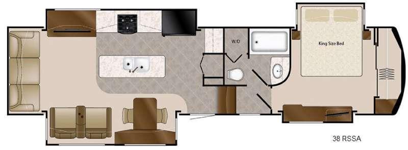 Floorplan - 2016 DRV Luxury Suites Mobile Suites 38 RSSA