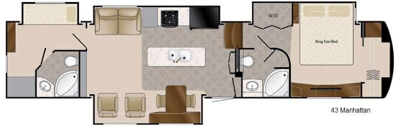 Floorplan - 2016 Mobile Suites 43 Manhattan Fifth Wheel