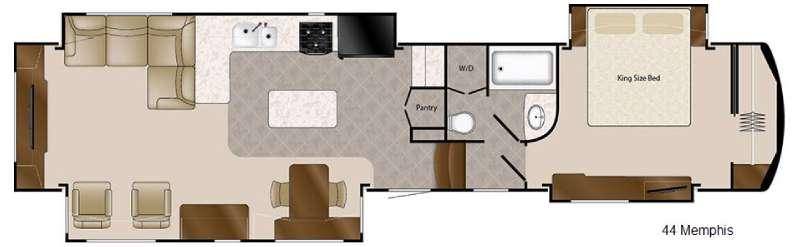 Floorplan - 2016 DRV Luxury Suites Mobile Suites 44 Memphis