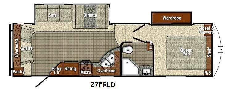 Sedona 27FRLD SLT Floorplan Image