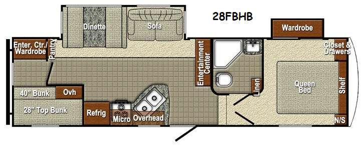 Sedona 28FBHB SLT Floorplan Image