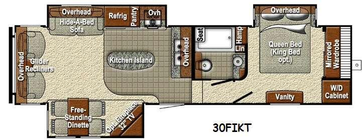 Sedona 30FIKT Advanced Profile Floorplan Image