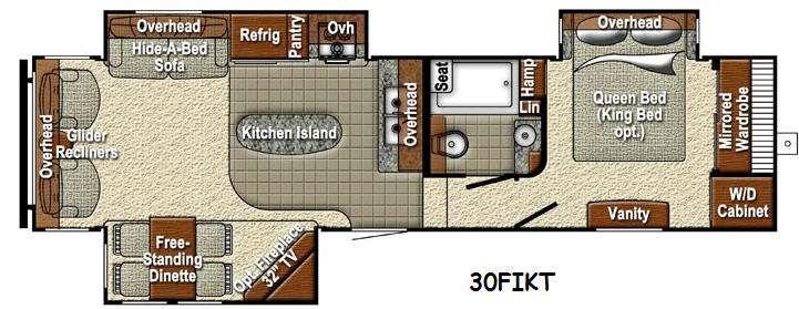 Sedona 30FIKT Advanced Profile Floorplan Image